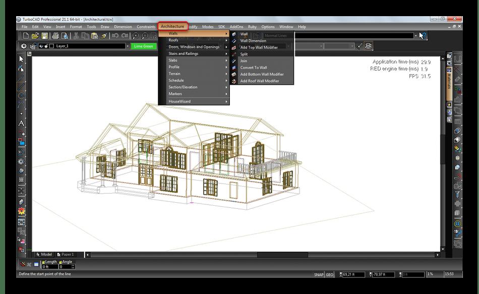 Специализированные инструменты для архитекторов в TurboCAD