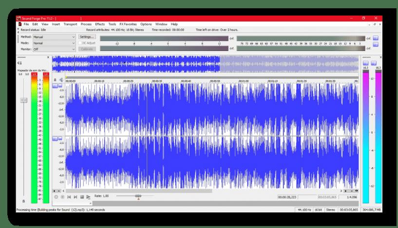 Цифровой редактор - Sound Forge Pro