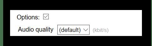 Включение дополнительных опций на Online Converter