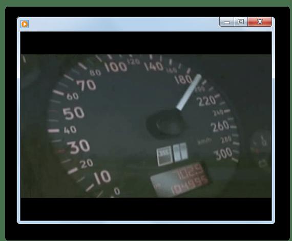 Воспроизведение видеофайла mpg в окне программы Windows Media