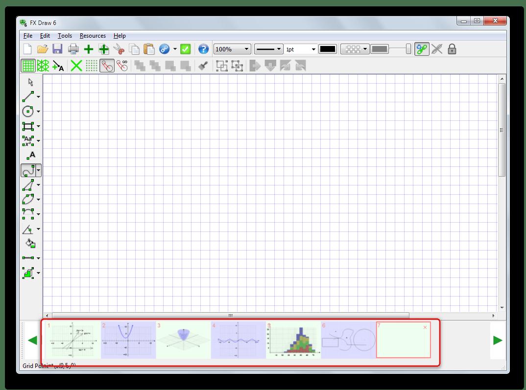 Возможность добавления в документ нескольких графиков и быстрого переключения между ними в Efofex FX Draw