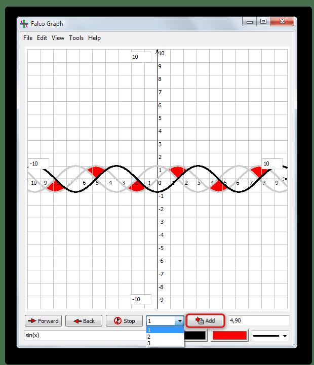 Возможность нанесения нескольких графиков на один лист в Falco Graph Builder