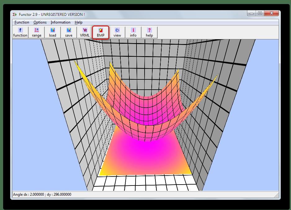 Возможность сохранения готовых графиков математических функций в виде изображения в Functor