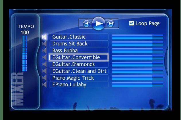 Выбор музыкальных инструментов на Jam Studio