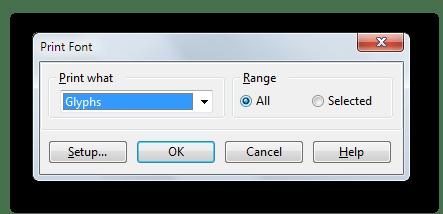 Вывод готового шрифта на печать в FontCreator