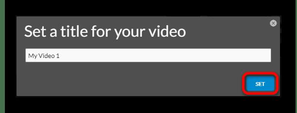 Задаем имя проекта Онлайн-сервис WeVideo