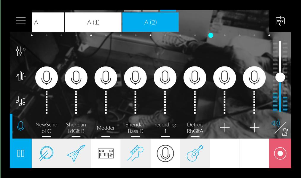 Большой выбор семплов в приложении Music Maker JAM