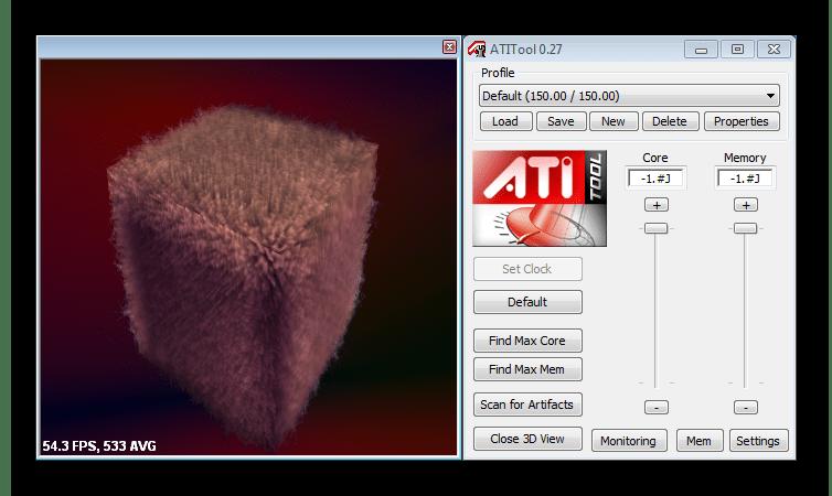 Диагностика производительности видеокарты в ATITool