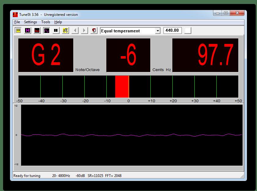 Еще один вариант графического отображения звуковых волн в Tune It!