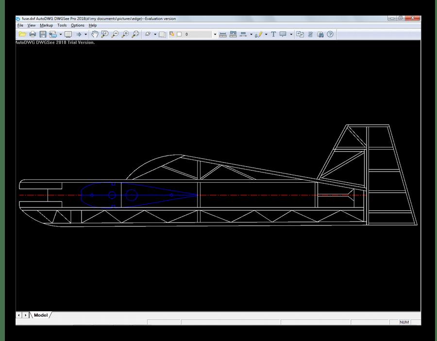 Файл DXF открытый в DWGSee DWG Viewer