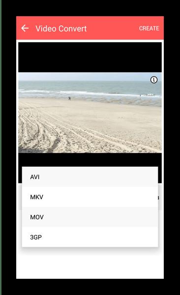 Форматы преобразования, поддерживаемые Video Converter (kkaps)