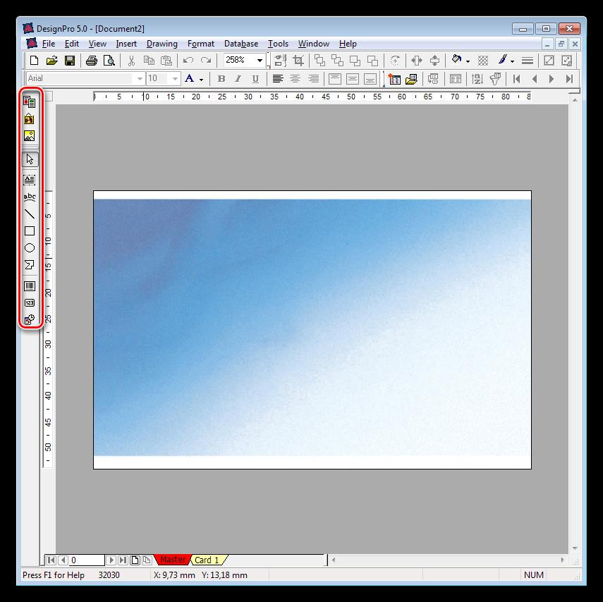 Инструменты для добавления статических элементов в программе DesignPro 5