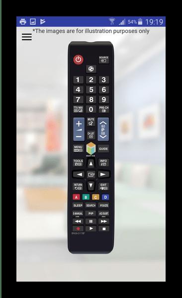 Интерфейс реального пульта в Control It