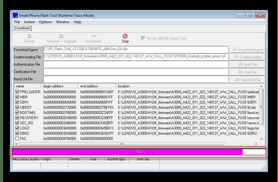 Lenovo IdeaTab A3000-H Проверка контрольных сумм в Flash Tool