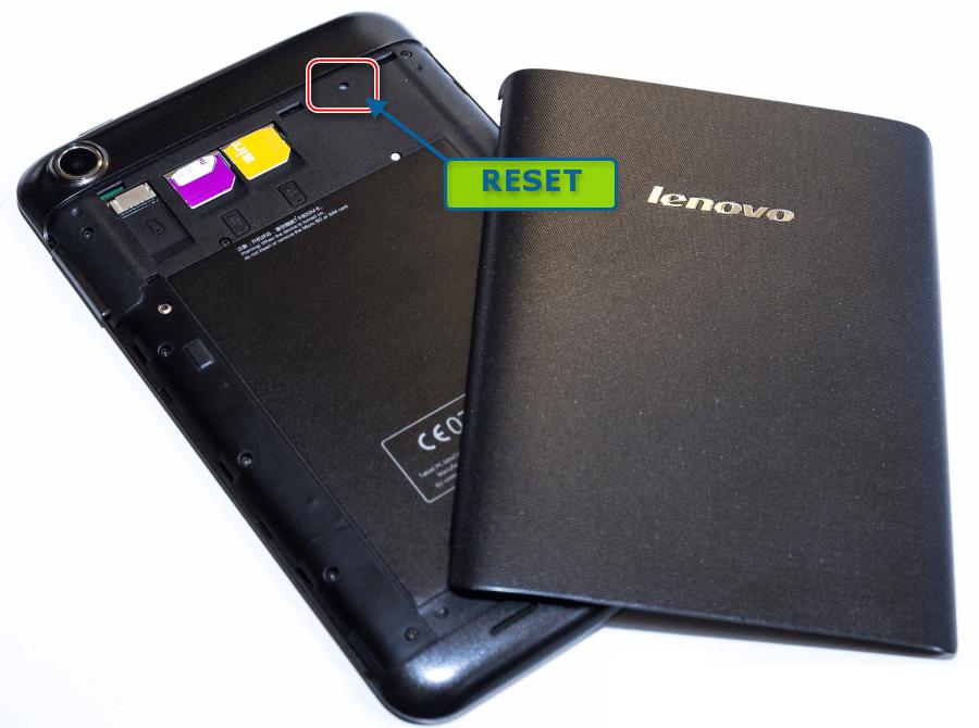 Lenovo IdeaTab A3000-H кнопка RESET, если прошивка не наступает