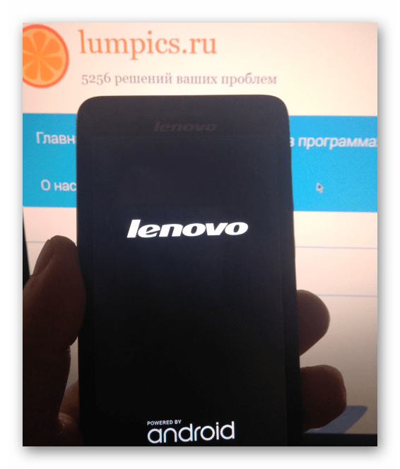 Lenovo S660 загрузка после прошивки через SP Flash Tool
