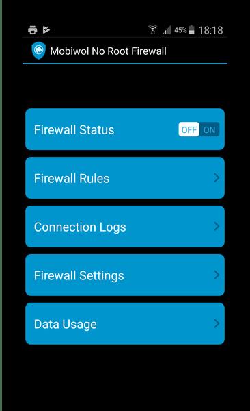 Ложный ВПН в Mobiwol Firewall без root