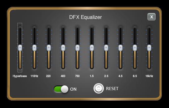 Многополосный эквалайзер в программе DFX Audio Enhancer