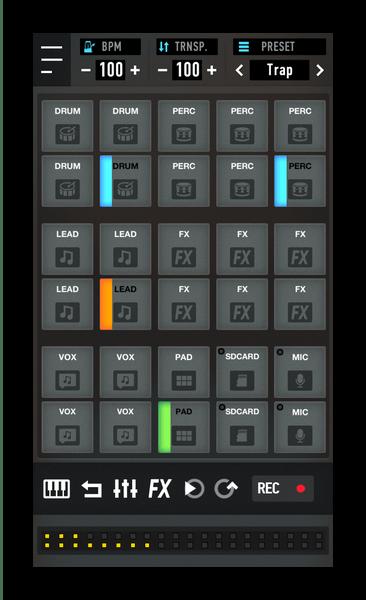 Множество инструментов в MixPads