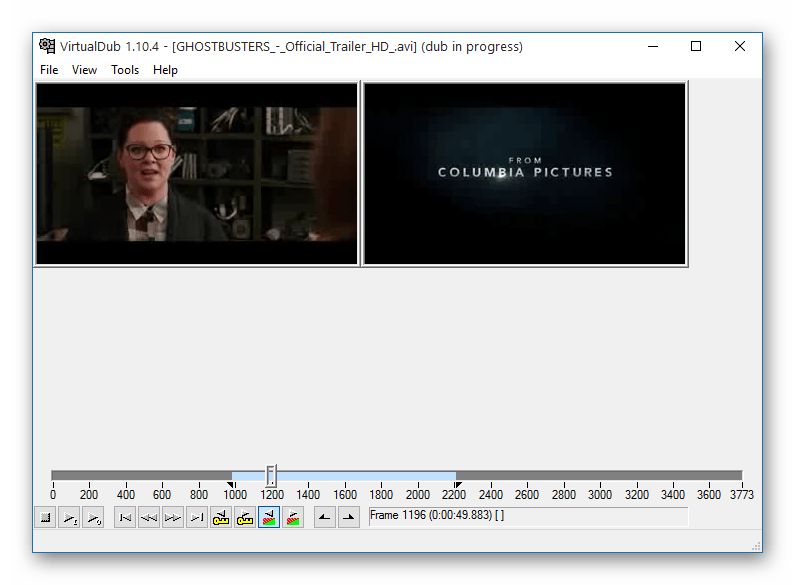 Монтирование в VirtualDub