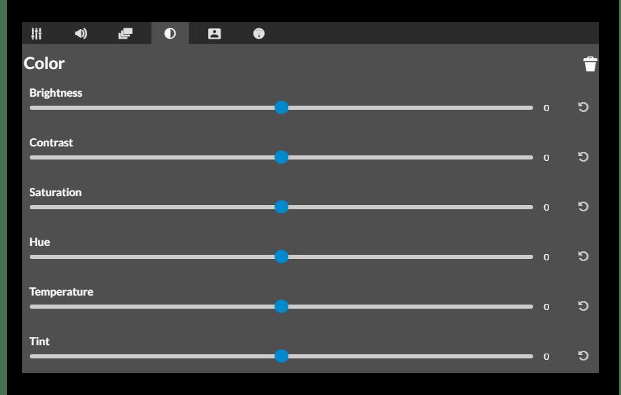Настройка параметров цвета и освещенности видео в сервисе WeVideo