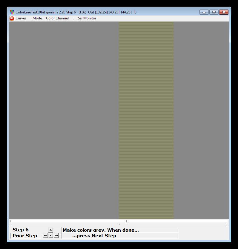 Настройка яркости каналов в программе CLTest