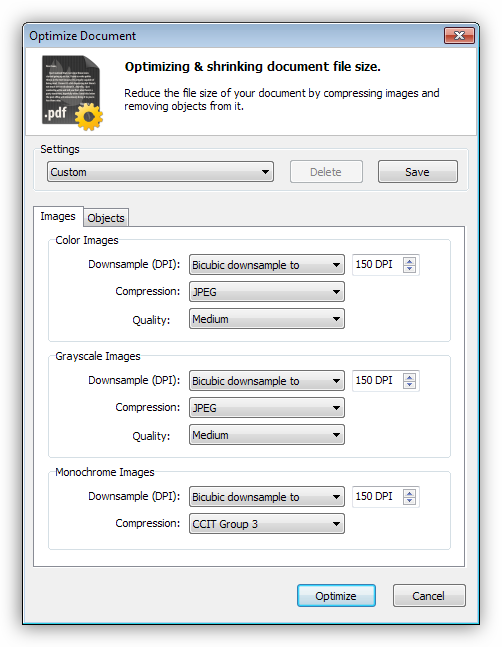 Оптимизация изображений и элементов на страницах в программе PDF Pro