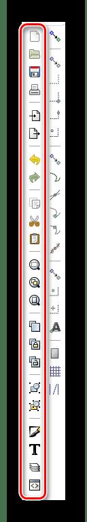 Панель команд в Inkscape