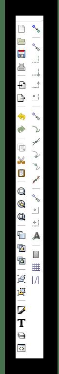 Панель параметров прилипания и команд в Inkscape