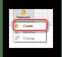 Переход к созданию нового пароля для блокировки в программе Any Weblock