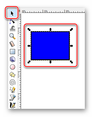 Перемещаем фигуру в Inkscape