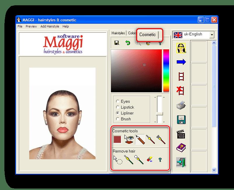 Подбор макияжа в программе Maggi
