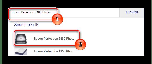Поиск сканера в системе сайта epson perfection 2480 photo_005