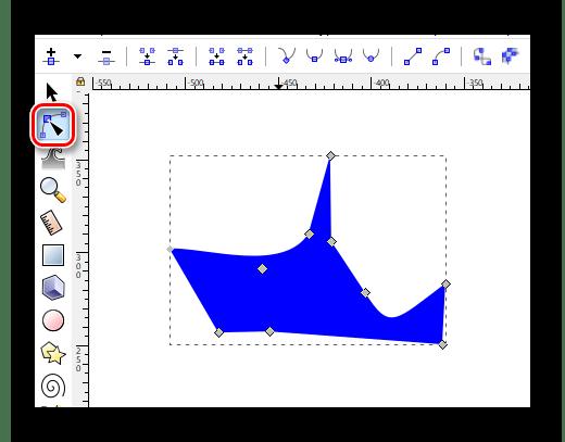 Пример деформации прямоугольника в Inkscape