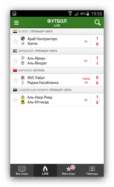 Прогнозы на футбол турнира Аравии в MyScore