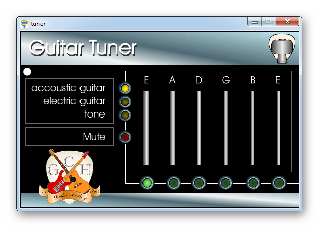Программа для настройки гитары Easy Guitar Tuner