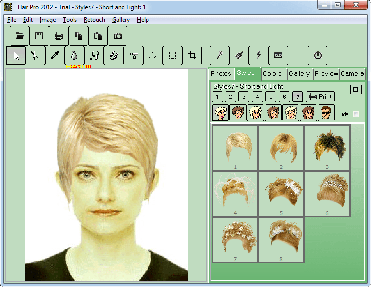 Программа для подбора прически Hair Pro
