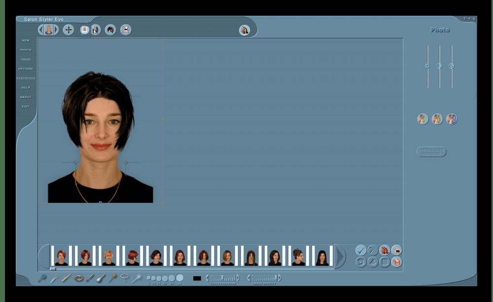 Программа для подбора прически Salon Styler Pro