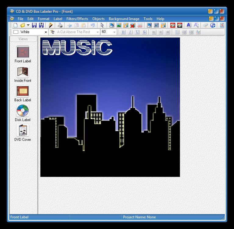 Программа для создания этикеток CD Box Labeler Pro