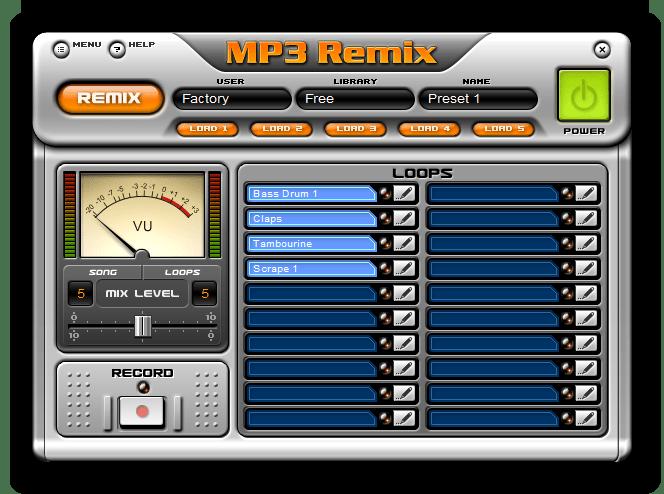 Программа для создания ремиксов MP3 Mixer