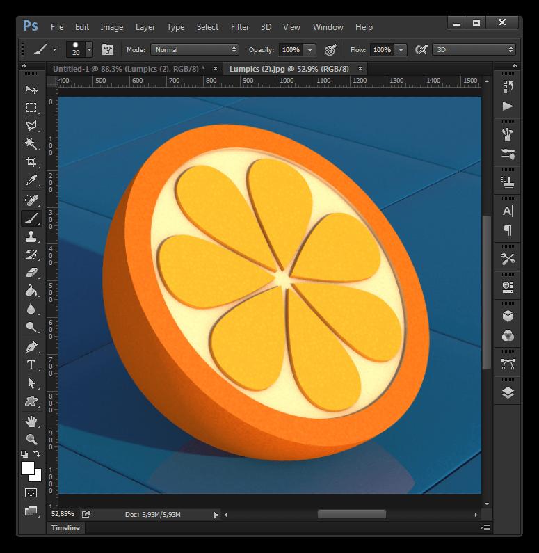 Программа для создания шапки для Ютуба Adobe Photoshop CC