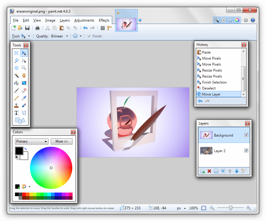 Программа для создания шапки для Ютуба Paint.NET