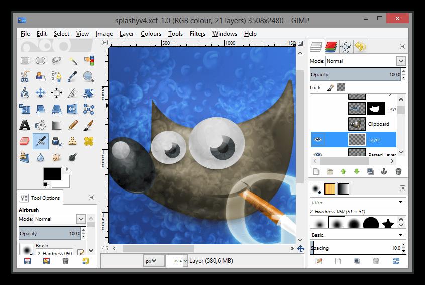 Программа для создания шапки для ютуба GIMP