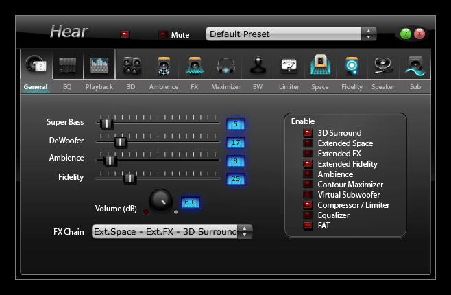 Программа для усиления звука на компьютере Hear