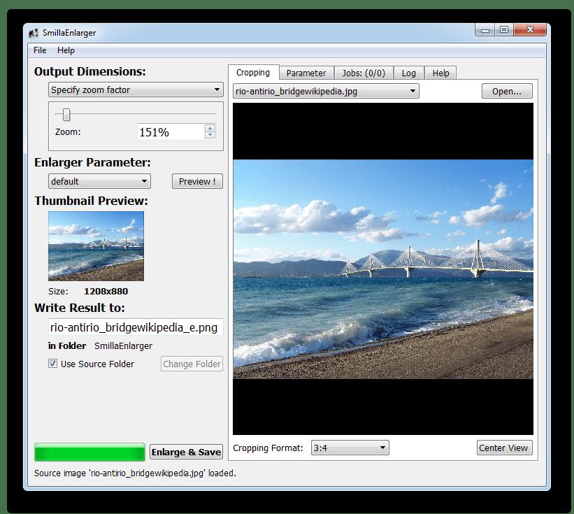 Программа для увеличения фотографий SmillaEnlarger