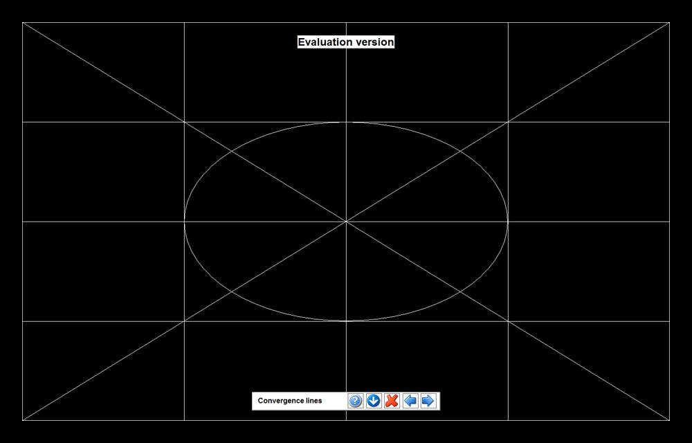 Проверка контрастности путем разделения экрана на участки белыми линиями в PassMark MonitorTest