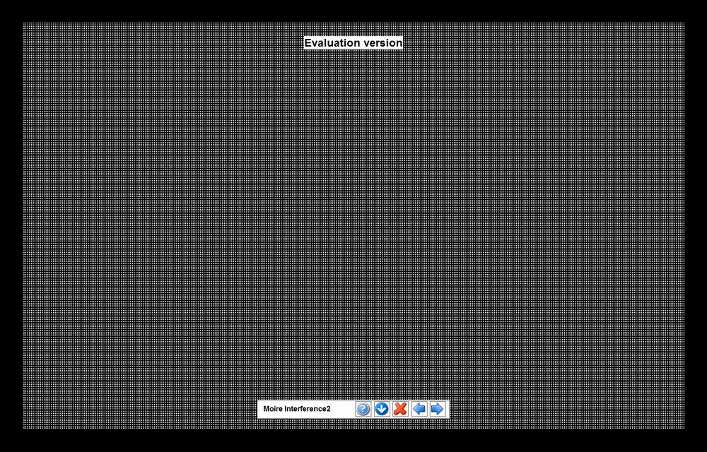 Проверка контрастности путем размещения на экране мелких узоров в PassMark MonitorTest