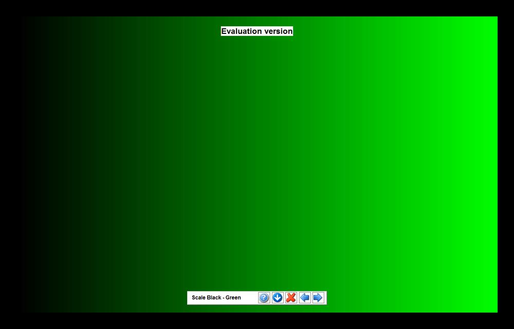Проверка отображения уровней яркости путем расположения на экране градиента одного из цветов в PassMark MonitorTest
