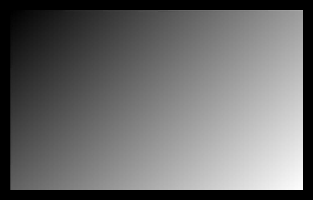 Проверка яркости при помощи диагонального градиента в TFT Монитор Тест
