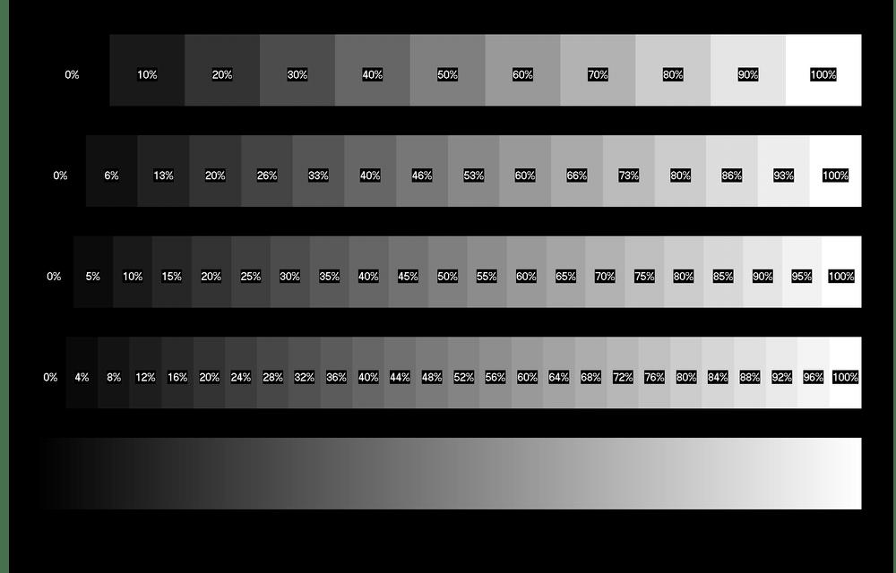 Проверка яркости при помощи отображения изображений с различным уровнем яркости в TFT Монитор Тест